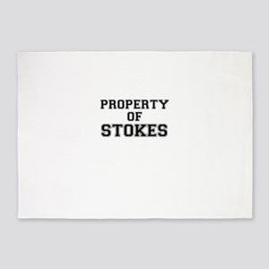 Property of STOKES 5'x7'Area Rug