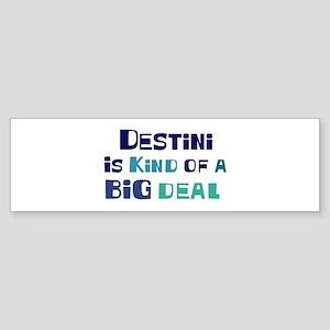 Destini is a big deal Bumper Sticker