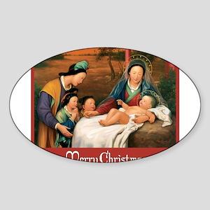 Chinese Nativity - Merry Christmas Sticker