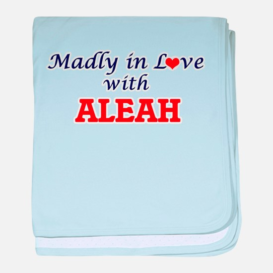 Madly in Love with Aleah baby blanket