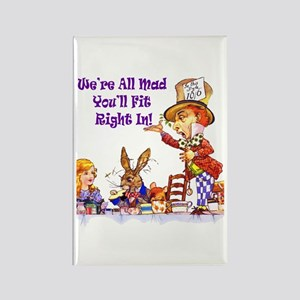 MAD HATTER RULES Rectangle Magnet