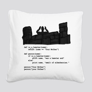 Your Mother was a hamster... Square Canvas Pillow
