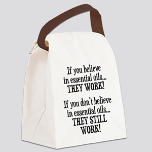 Believe in Essential Oils Canvas Lunch Bag