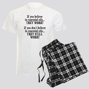 Believe in Essential Oils Men's Light Pajamas