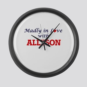 Madly in Love with Allyson Large Wall Clock