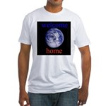 338.welcome home Fitted T-Shirt