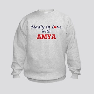 Madly in Love with Amya Kids Sweatshirt