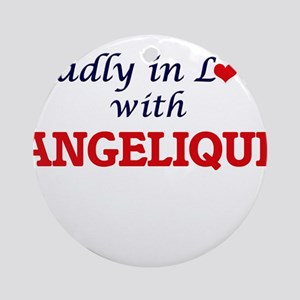 Madly in Love with Angelique Round Ornament