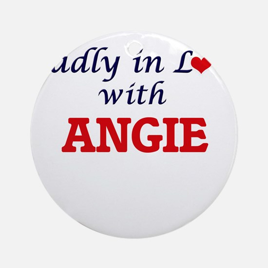 Madly in Love with Angie Round Ornament