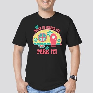 Home Is Where We Park Men's Fitted T-Shirt (dark)
