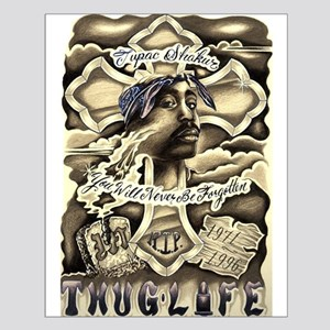 Tupac Memorial Small Poster