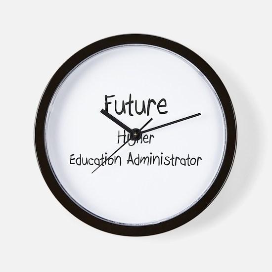 Future Higher Education Administrator Wall Clock