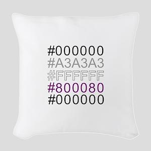 ASEXUAL_GEEK_PRIDE Woven Throw Pillow