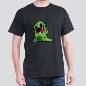 Adorable Cartoon Green Dinosaur T-Shirt
