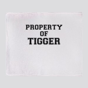Property of TIGGER Throw Blanket