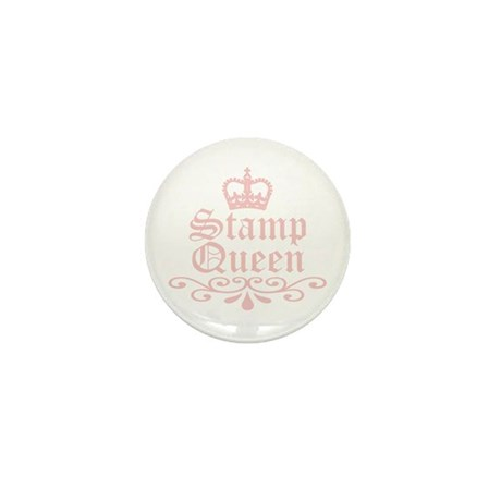 Stamp Queen Mini Button