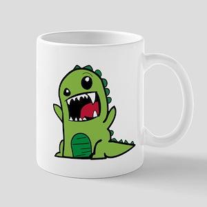 Adorable Cartoon Green Dinosaur Mugs