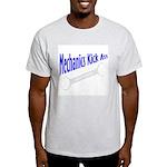 Mechanics Kick Ass Ash Grey T-Shirt