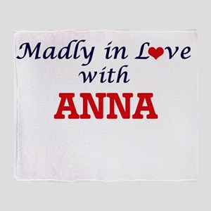 Madly in Love with Anna Throw Blanket