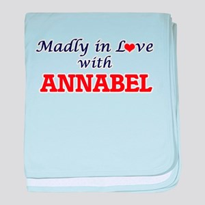 Madly in Love with Annabel baby blanket