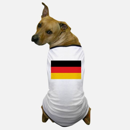 German Tricolor Flag in Black Red and Yellow Dog T