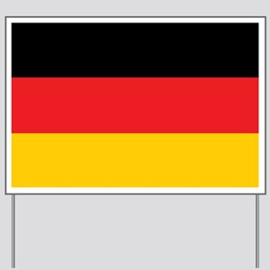 German Tricolor Flag in Black Red and Yellow Yard