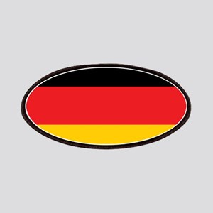 German Tricolor Flag in Black Red and Yellow Patch