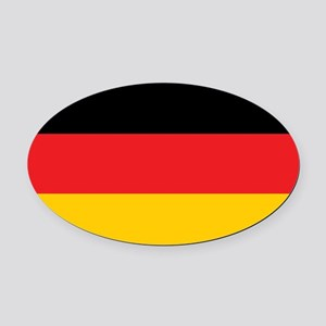 German Tricolor Flag in Black Red and Yellow Oval