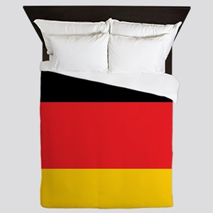 German Tricolor Flag in Black Red and Yellow Queen
