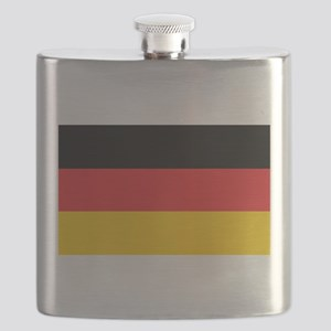 German Tricolor Flag in Black Red and Yellow Flask