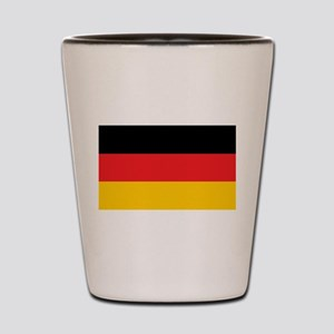 German Tricolor Flag in Black Red and Yellow Shot
