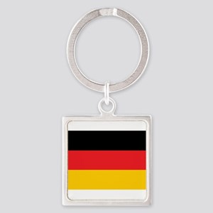German Tricolor Flag in Black Red and Yellow Keych
