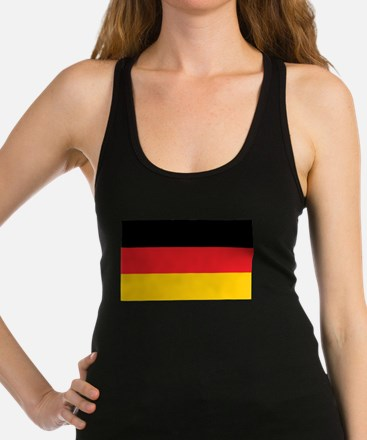 German Tricolor Flag in Black Red and Yellow Racer