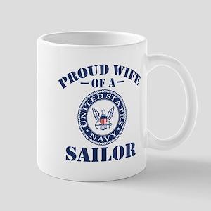 Proud Wife Of A US Navy Sailor Mug