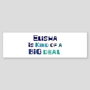 Elisha is a big deal Bumper Sticker