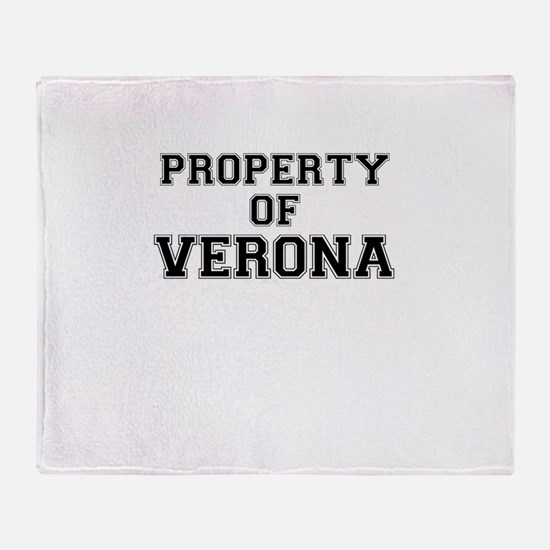 Property of VERONA Throw Blanket