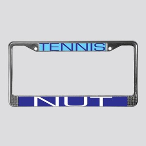 tennis nut License Plate Frame