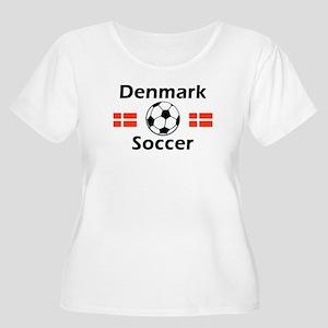Denmark Soccer Women's Plus Size Scoop Neck T-Shir