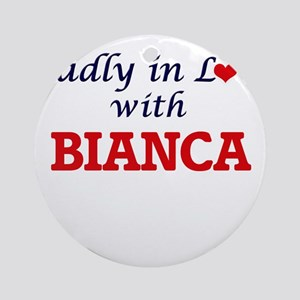 Madly in Love with Bianca Round Ornament