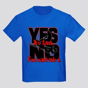 Yes It's Fast - No You Can't Kids Dark T-Shirt