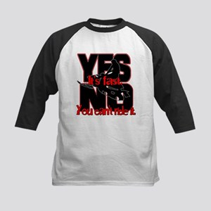 Yes It's Fast - No You Can't Kids Baseball Jersey