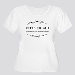 Earth To Salt Women's Scoop Neck Plus Size T-S