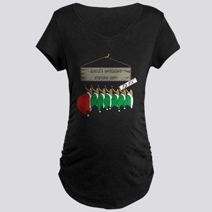 Santa's Workshop Maternity Dark T-Shirt