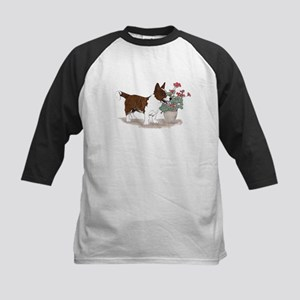 Red Brindle Cardigan Corgi Kids Baseball Jersey