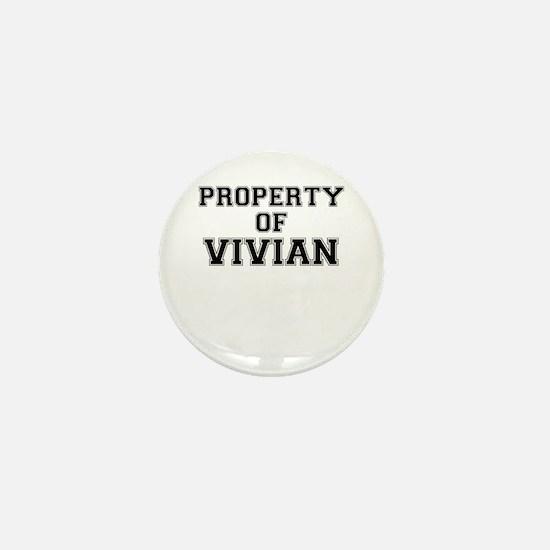 Property of VIVIAN Mini Button