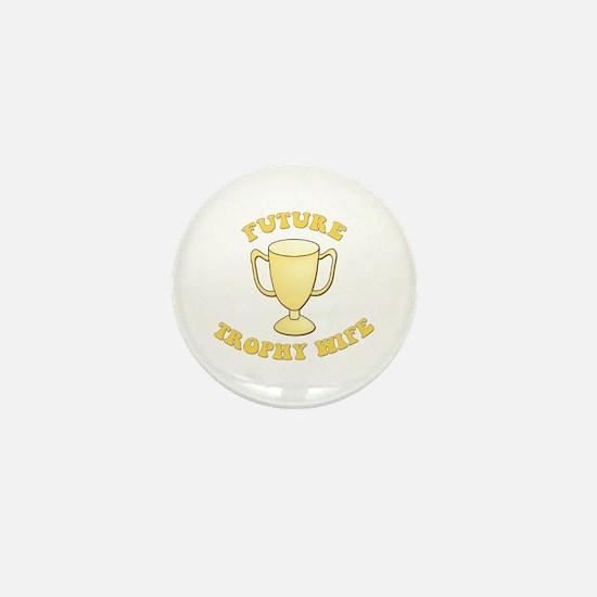 Yellow Future Trophy Wife Mini Button