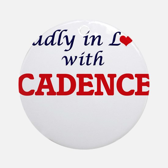 Madly in Love with Cadence Round Ornament