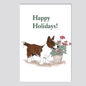 Red Brindle Cardigan Corgi Postcards (Package of 8
