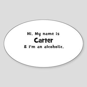 Carter Oval Sticker