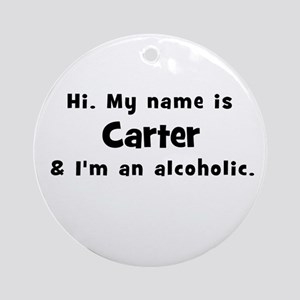 Carter Ornament (Round)